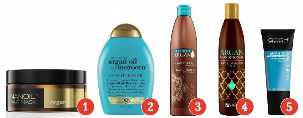 Arganöl in spülungen, balsamen und masken zur haarpflege